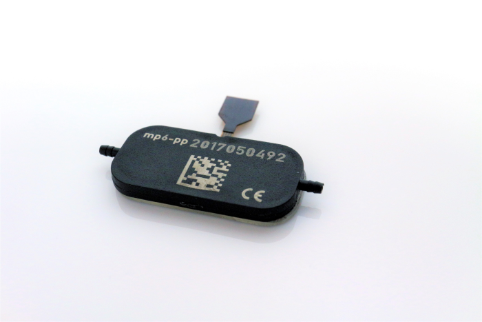 Mp6 pp micropump for different media transport in microfluidics QR code on the piezo pump