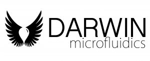 Black and white logo of Darwin Microfluidics a worldwide Distributor from France for Bartels Mikrotechnik a micropump manufacturer from Germany