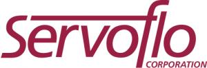 Logo bin rot und weiß von Servoflo Corporation aus den USA, Distributor der mikrofluidischen Produkte von Bartels Mikrotechnik